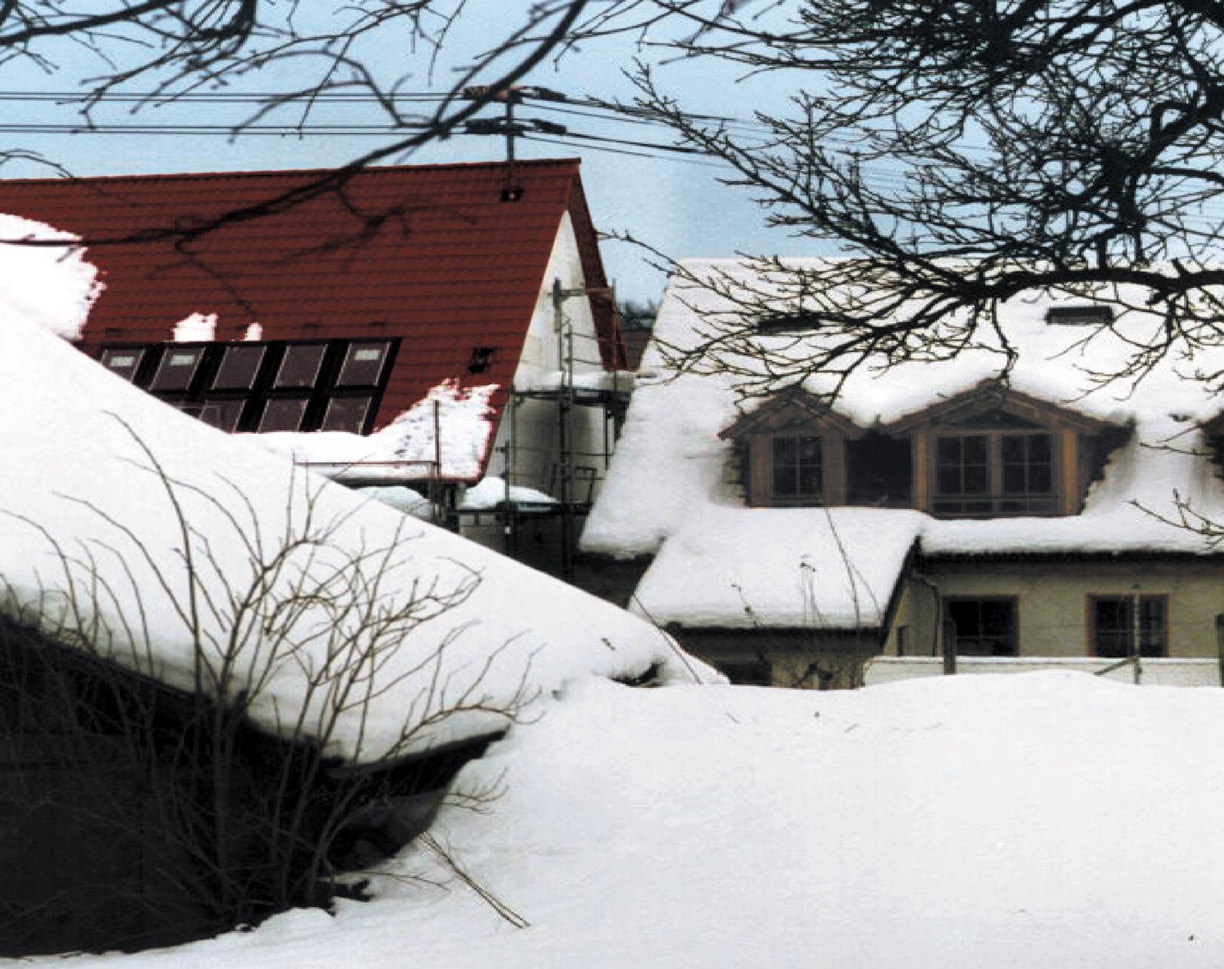 Bauder_Effizienz_Daemmung_Haus im Schnee